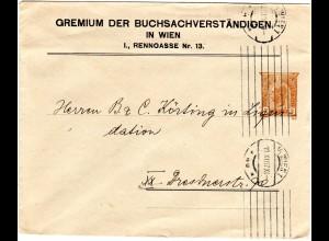 Österreich 1907, Buch Sachverständigen 3 H. Privat Ganzsache Brief v. Wien