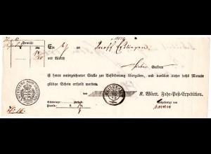 Württemberg 1865, Postschein v. HEIDENHEIM