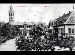 Frankenthal, Marktplatz m. Gebäuden, 1911 gebr. sw-AK