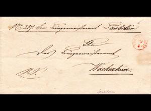 Bayern, Fingerhut Stpl. Frankenthal in rot auf Brief v. Lambsheim n. Wachenheim