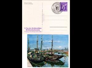 DR, 6 Pf. Tag d. Dt. Briefmarkenhandels Privat Ganzsache m. Sonderstempel