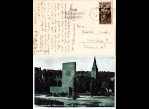 Saargebiet 1935, 40 C. Volkshilfe auf AK v. Saarbrücken