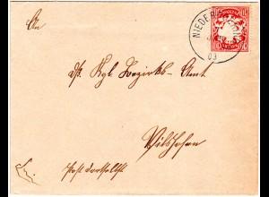 Bayern 1903, K1 NIEDERPOERING auf kl. Brief m. 10 Pf. n. Vilshofen
