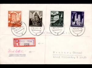 Generalgouvernement 1941, 4 Marken auf Einschreiben Express Brief v. GRODZISK