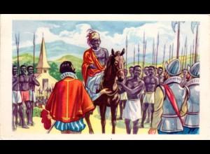 Belgien Congo, Portugal Cavaleiros kämfen auf der Seite des Königs v. Kongo