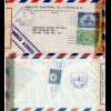 Honduras 1944, 1+21 C. on censorship Air Mail cover with Red Cross stamp on back