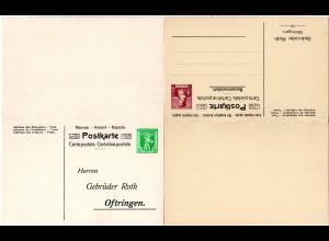 Schweiz, ungebr. 5+15 C. Privat Ganzsache Doppelkarte