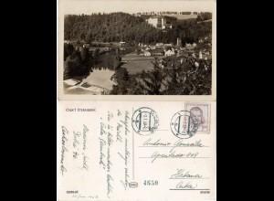 Tschechoslowakei 1952, 3 Kr. auf Cesky Sternberk sw-AK v. Dobre in die Karibik