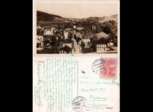 Tschechoslowakei 1952, 3 Kr. auf sw-AK v. Hronov in die Karibik