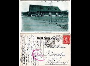 USA, HASKELL N.J., Du Pont Club House, 1916 v. POMPTON LAKES gebr. sw-AK