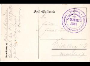 Belgien 1917, Karte v. Antwerpen m. Briefstempel Lagerkommandatur Brasschaet
