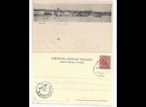 Italien 1899, Desenzano Lombardia, gebr. sw Vorläufer AK m. Bahnpost Stpl. #765