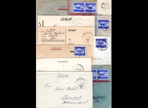 FP WK II 1939/44, 10 Briefe u. Karten, u.a. Finnland u. Luftpost