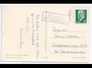 DDR, Mügeln über Falkenberg Elster, Landpoststellen Stpl. auf AK m. 10 Pf. #585