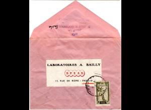Transjordanien, 3 M. auf Drucksachen Umschlag v. Amman n. Frankreich