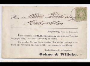 Bayern, 1 Kr. Vertreter Avis Karte (Magdeburg) v. K1 HOF n. Aschersleben . #696