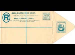 Südwest Afrika, ungebr. 5 C. Reko Ganzsache Brief m. Flamingo im Wertstempel