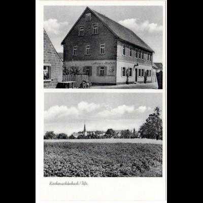 Kirchenschönbach Ufr. m. Gasthaus zum Hirschen, ungebr. sw-AK