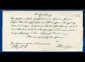 Bayern 1844, L1 Unterbruk (Unterbruck) auf Bischofs Brief n. München. #2788