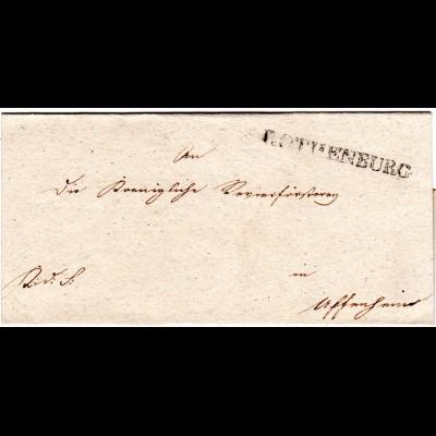 Bayern, L1 ROTHENBURG auf schönem Brief n. Uffenheim.