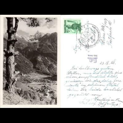 Österreich, Oetz, Ansicht v. oben, 1948 gebr. sw-AK