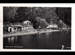 Österreich, Döbriach Strandbad, 1951 gebr. sw-AK