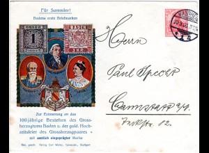 DR 1906, 10 Pf. Privat Ganzsache Brief v. Mannheim n. Cannstadt