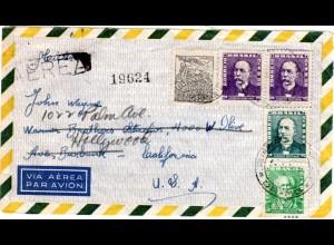 An Schauspieler John Wayne in Hollywood adressierter Brief aus Brasilein