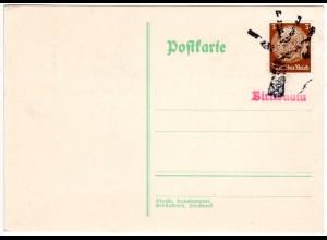 DR, Birnbaum Prov. Posen, Warthegau, Karte m. 3 Pf. u. Stempel in Baumform