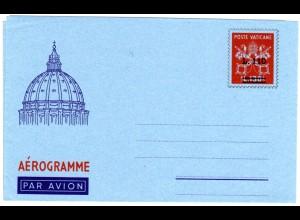 Vatikan, ungebr. 110/130 L. Aerogramm Ganzsache