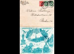 Dänemark 1904, 10+Paar 5 öre auf attraktivem Bilder Brief v. Kopenhagen