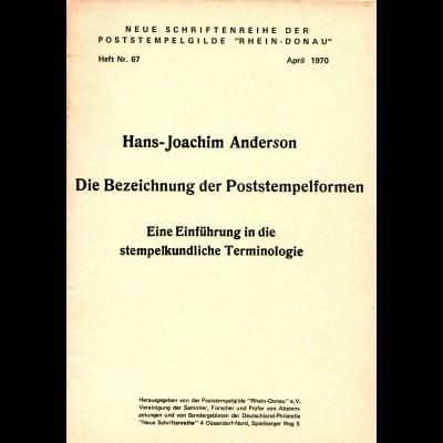 Anderson, Die Bezeichnung der Poststempelformen, 41 S.