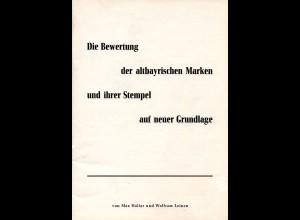 Halfar/Leinen, Die Bewertung d. altbayrischen Marken u. ihrer Stempel..., 36 S.