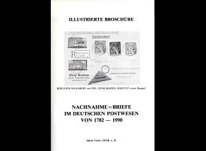 Vetter, Nachnahme Briefe im Deutschen Postwesen von 1782-1990, 92 S. m. Abb.