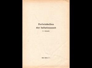 Kobold, Portotabellen der Inflationszeit, 7 S.