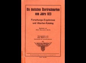 Burneleit, Die deutschen Überdruckmarken vom Jahre 1923, 100 S.