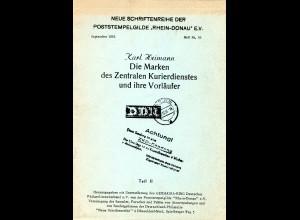 Heimann, Die Marken des Zentralen Kurierdienstes und ihre Vorläufer, Teil II