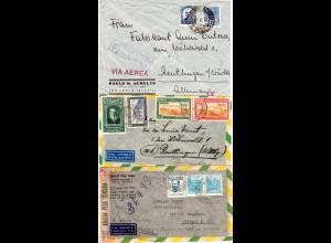 Brasilien, 3 Luftpost Briefe, u.a. LATI u. 1x Einschreiben