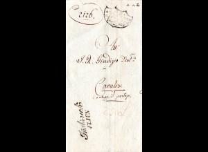Österreich 1839, L2 Innsbruck auf Brief n. Cavalese