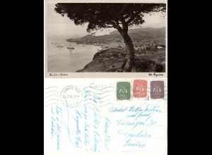 Portugal, Funchal-Madeira, 1951 postcard used to Sweden.
