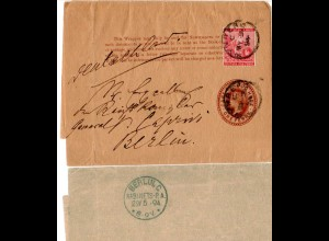 DSWA 1894, Cape Of Good Hope Streifband an Reichskanzler General von Caprivi