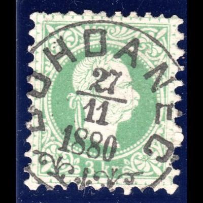 Österreich 3 Kr. m. zentr. Böhmen Zier-K1 BOHDANEC