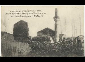 Monastir, Bitola, Mazedonien, sw- AK m. v. Bulgarien zerstörter Moschee #207