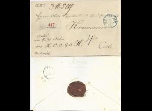 Hannover, K2 Göttingen auf gesiegeltem Paket Begleit Brief n. Celle. #558