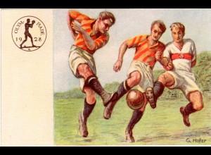 Olympische Spiele Amsterdam 1928, offizielle dt. Spendenkarte m. Abb. Fussball