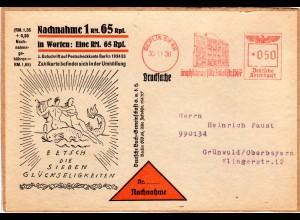 DR 1938, Freistpl. Berlin Graphikhaus Alte Jakobstr auf attraktiver Paketadresse