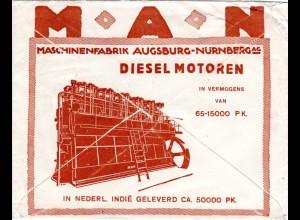 NL Indien 1930, 5+20 C. auf illustriertem MAN Reklame Umschlag v. Soerabaja
