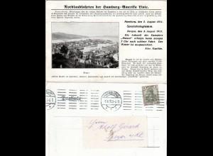 Bergen, Norwegen, Reklame-Postkarte der Hamburg-Amerika Linie m. 3 Pf. Germania