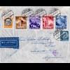 DR 1941, 6 Marken auf Ostmark Luftpost Brief v. Wien n. Argentinien