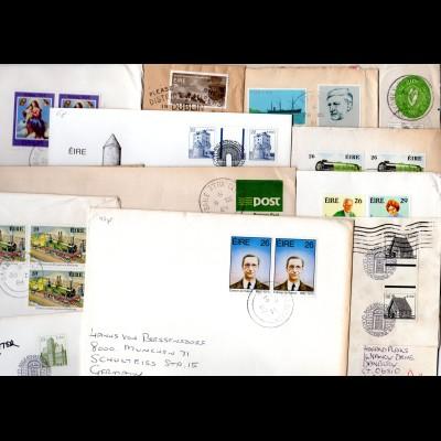 Irland, kl. Partie m. 13 Briefen u. Ganzsachen